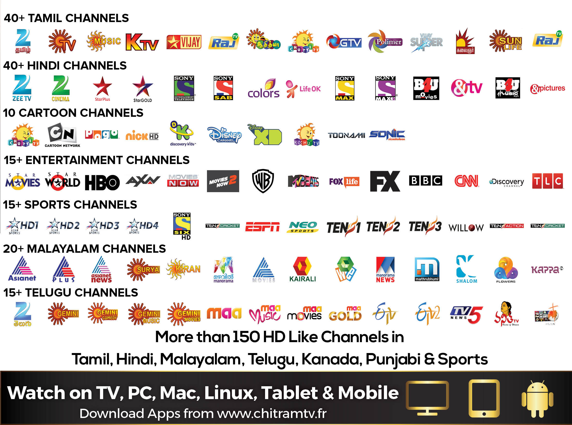 Channels - Chitram TV